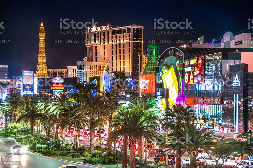 View of the Las Vegas strip stock photo