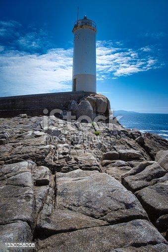 istock View of the lighthouse in O Roncudo costa de la muerte, Galicia. Spain. 1330258208