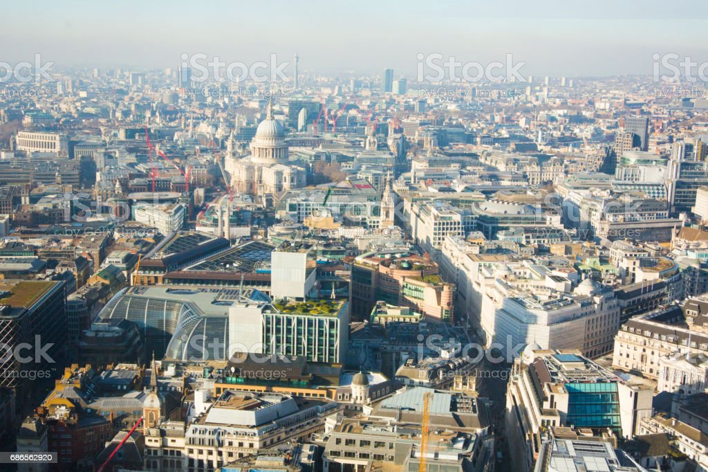 Une vue de la London photo libre de droits