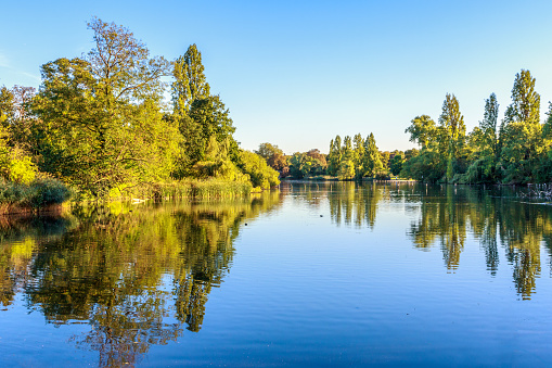 View of The Long Water in Hyde Park
