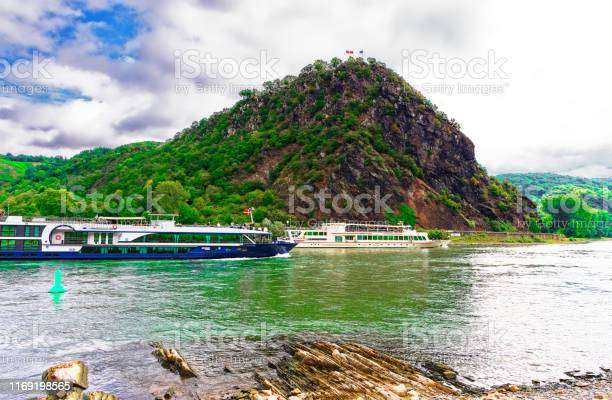 Photo of View of the Loreley on the Rhine near St. Goarshausen Upper Middle Rhine Valley in Rhineland-Palatinate Germany Photographed Europe on 2019.08.16