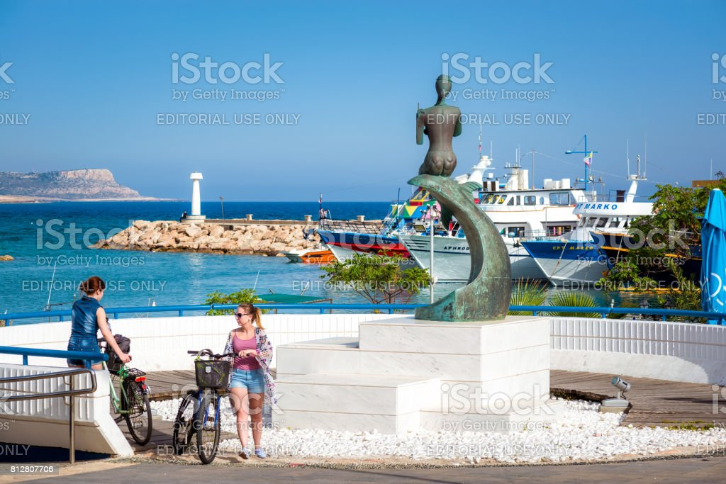A view of the main square towards sea stock photo