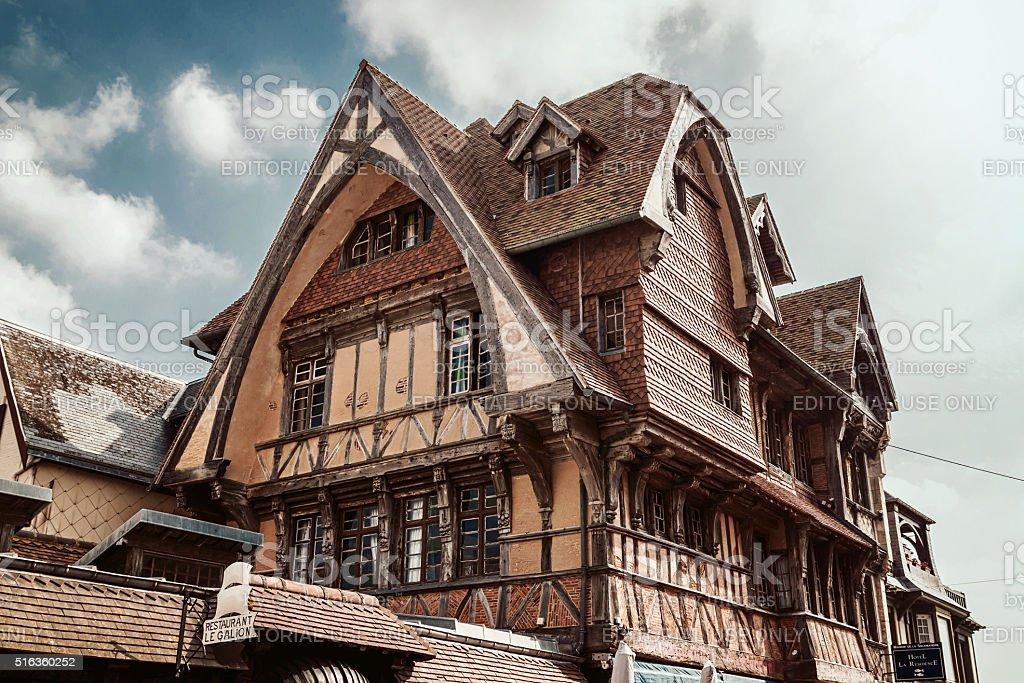 View of the Manoir de la Salamandre stock photo