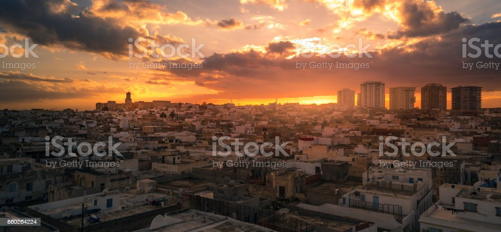View of the Medina in Sousse stock photo