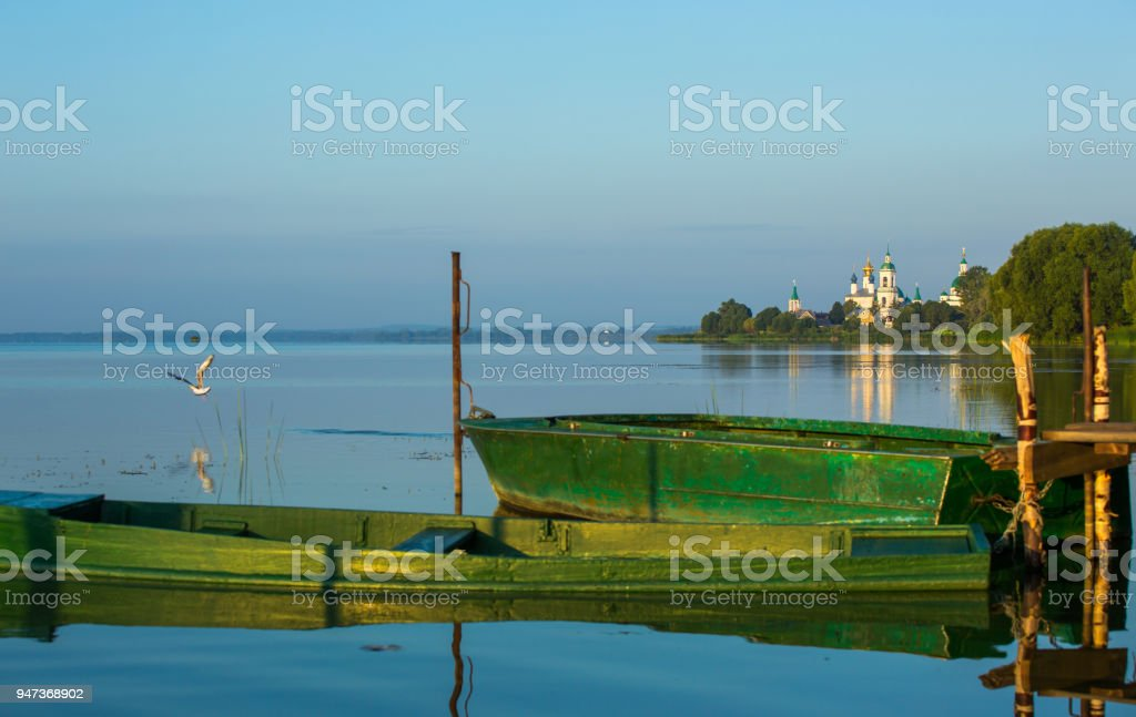 View of the Monastery of St. Jacob Saviour, Rostov the Great stock photo