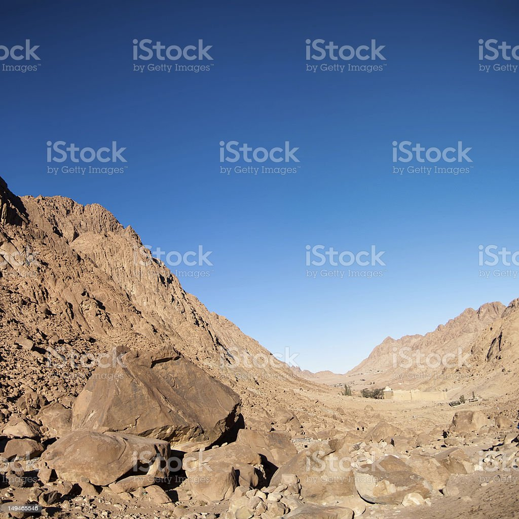 view of the monastery St. Catherine. stock photo