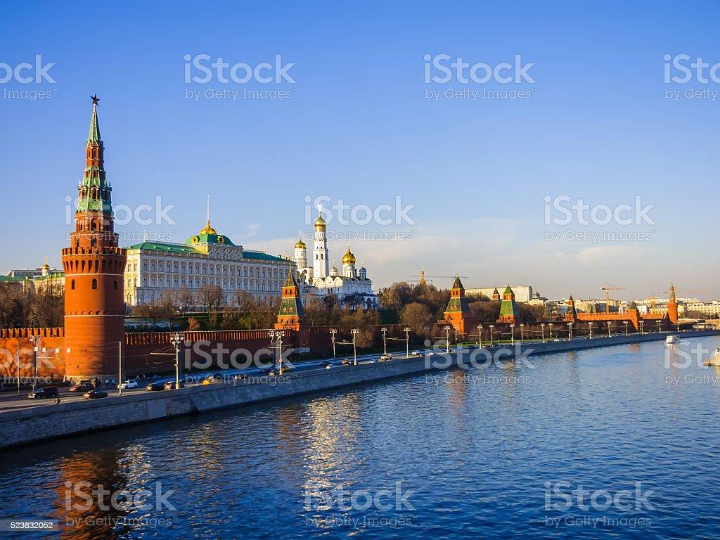 Вид на Московский Кремль, Большой Кремлевский дворец стоковое фото