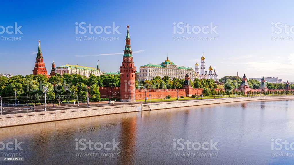 View of the Moscow Kremlin stock photo