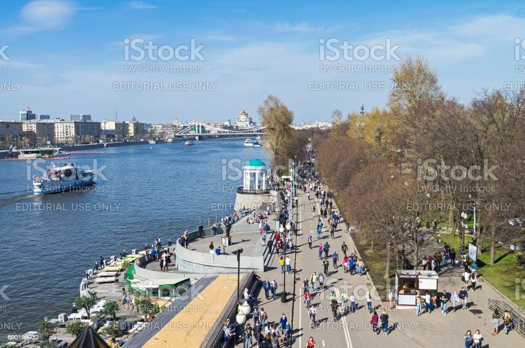 View of the Moskva River embankment stock photo