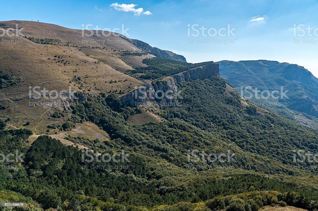View of the mountain Demerdzhi Lizenzfreies stock-foto