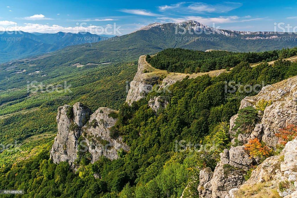 View of the mountain Demerdzhi photo libre de droits
