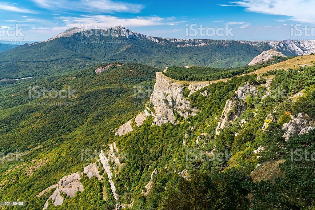 View of the mountain Demerdzhi foto stock royalty-free