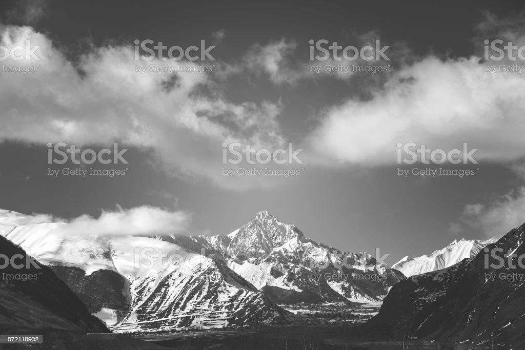 view of the mountain stock photo