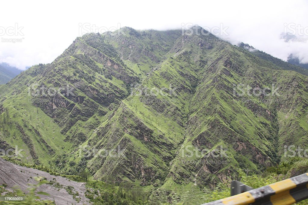 View of the mountains india royalty-free stock photo