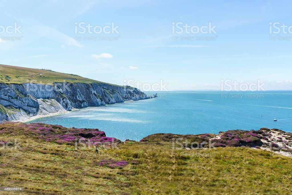 View of The Needles stock photo