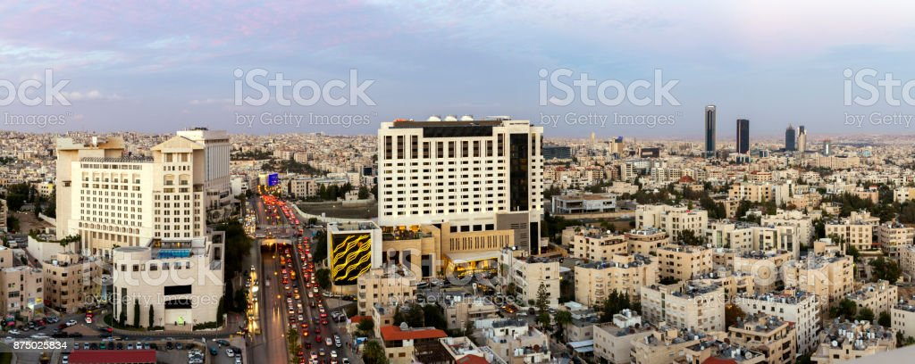 View Of The New Downtown Amman Abdali Area And Fifth Circle Royalty Free Stock