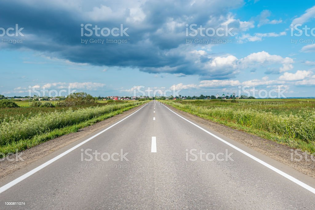 View of the new highway. stock photo