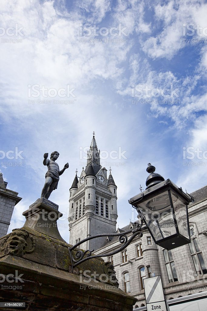 View of the New Town House tower in Aberdeen stock photo