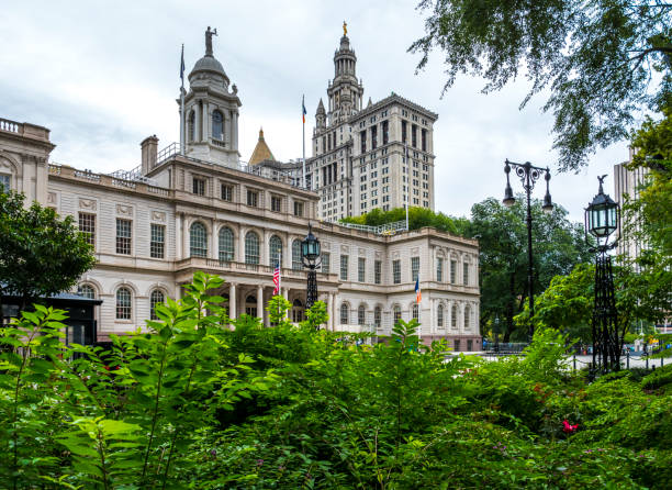 View of the New York City Hall stock photo
