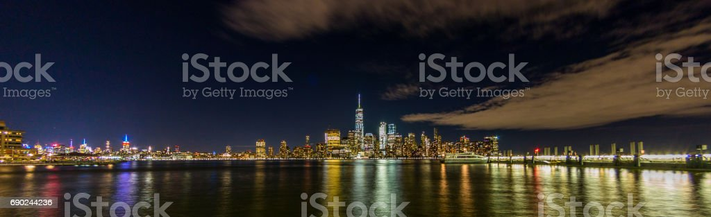 view of the new york city skyline stock photo