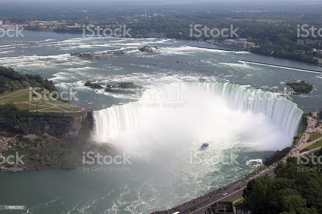 View of the Niagara Falls royalty-free stock photo
