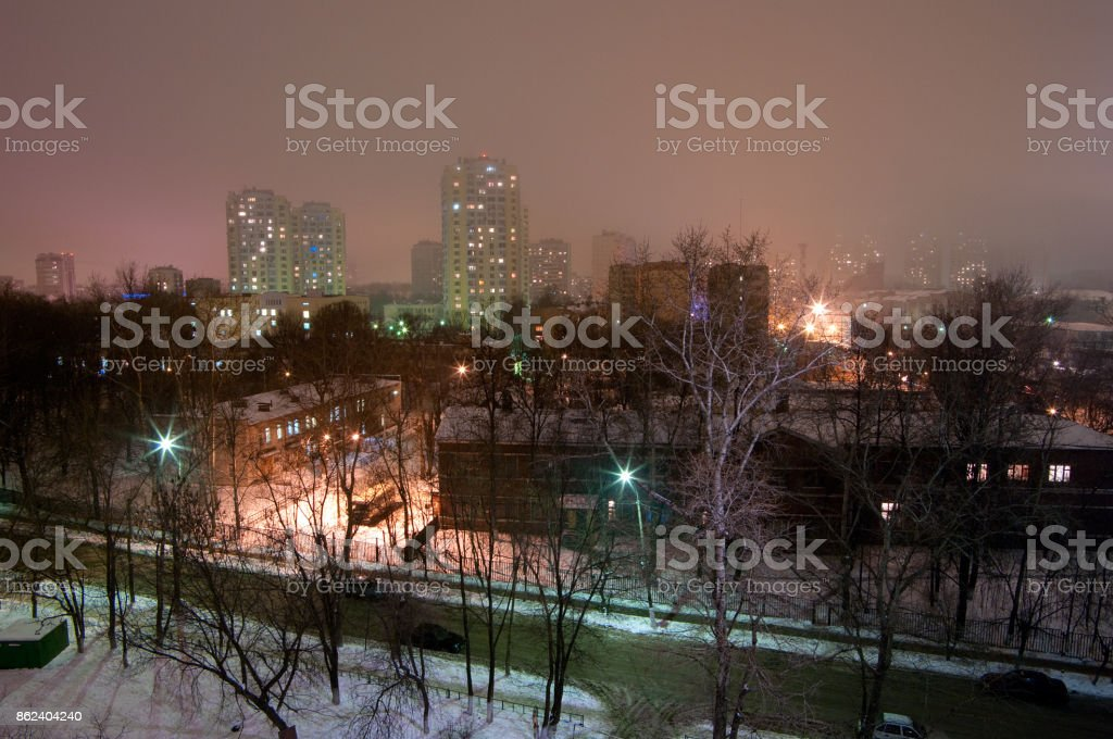 View of the Northern part of the city (at the foreground is the city hospital) stock photo