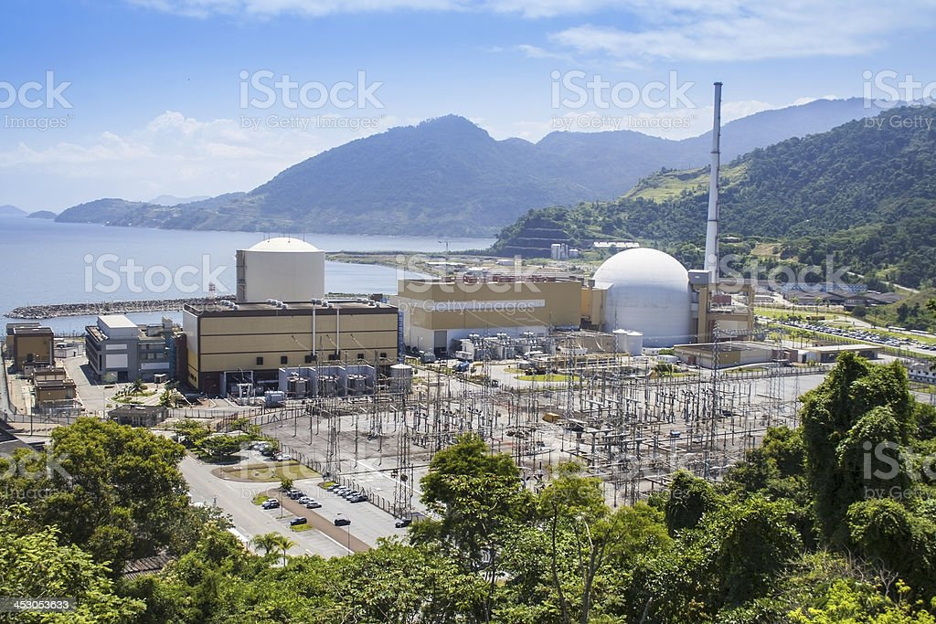 View of the nuclear power station in Brazil stock photo
