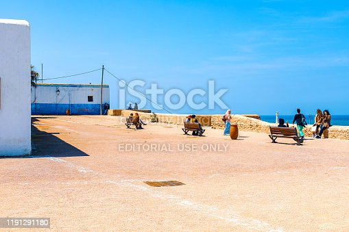 980314112 istock photo View of the ocean and the breakwaters that separate the mouth of the Bou Regreg river from the Atlantic Ocean. Rabat, Morocco. 1191291180
