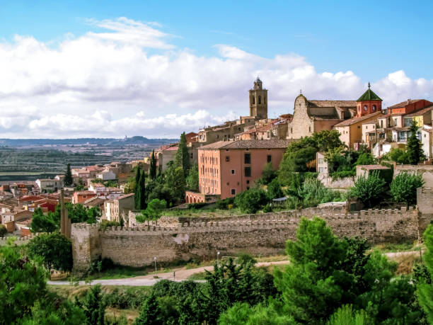 View of the Old City of Cervera in Catalonia (Spain) stock photo