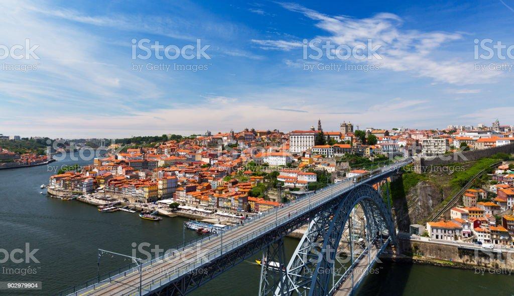 vista da cidade velha do Porto, Portugal - foto de acervo