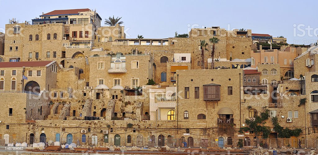 View of the Old Jaffa town stock photo