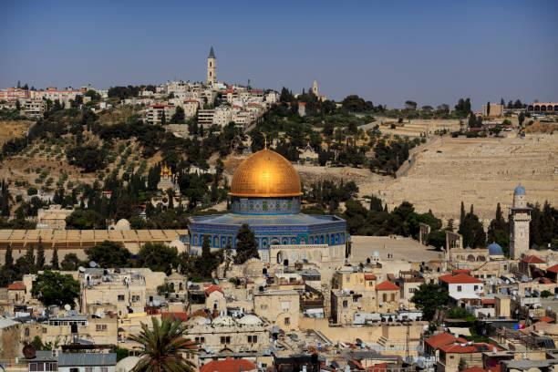 Blick auf die Altstadt Jerusalem von oben. Israel. – Foto