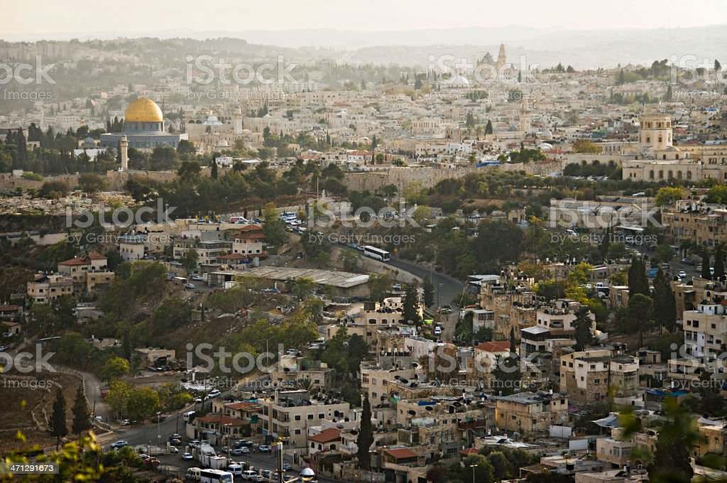 View of the old Jerusalem, israel. royalty-free stock photo