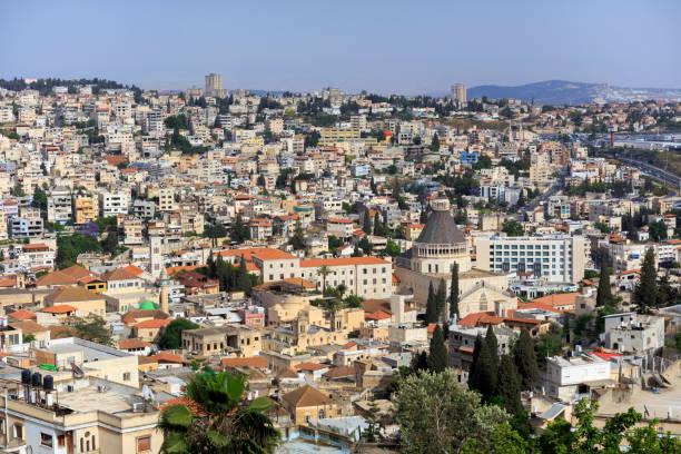 Ein Blick auf die alte Nazareth von oben. Israel. – Foto