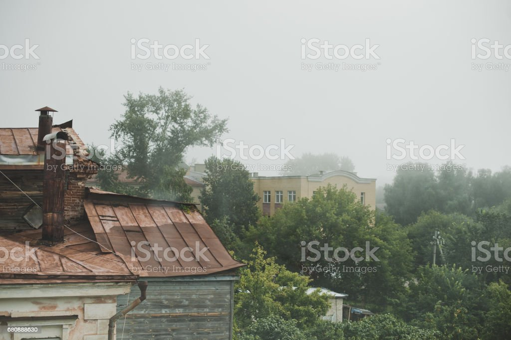 View of the old rusty roof 5174. royalty-free stock photo