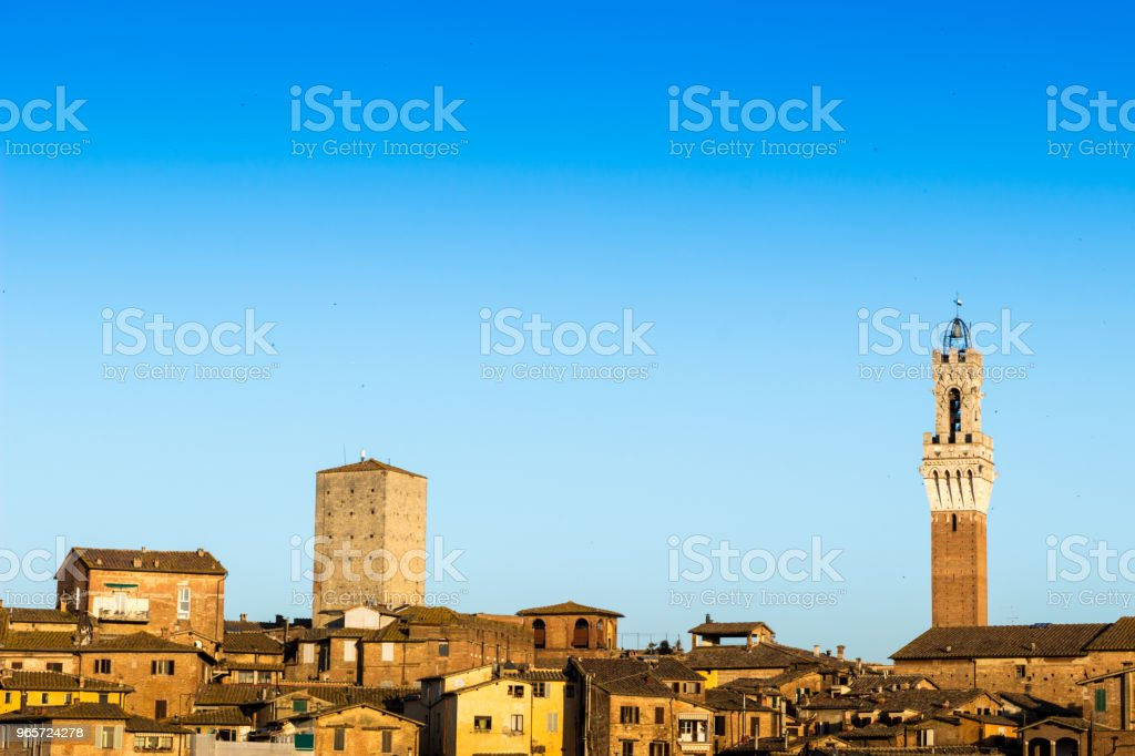 View of the old town of Siena, Italy - Royalty-free Architecture Stock Photo