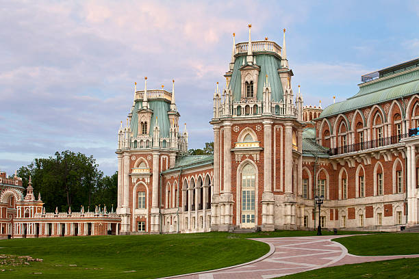 View of the Palace in Tsaritsyno royal residence stock photo