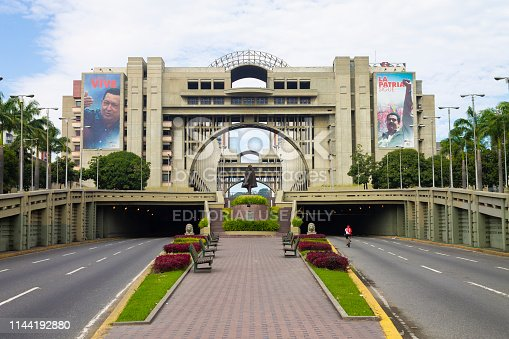 Caracas, Venezuela - Dec 24th 2014: View of the Palace of Justice of Venezuela in Caracas, Venezuela. 2014