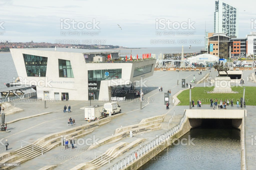 View of the Pier Head in Liverpool, UK stock photo