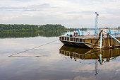 Berth with passenger motor ships in Uglich, Yaroslavl Region