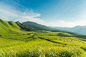 日本で曽爾高原高原のビュー
