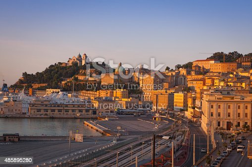 istock View of the port and city center of Ancona, Italy 485895280