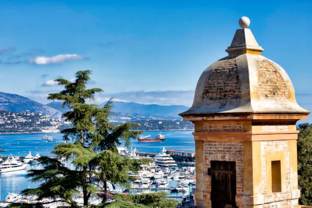View of the port of Monaco stock photo