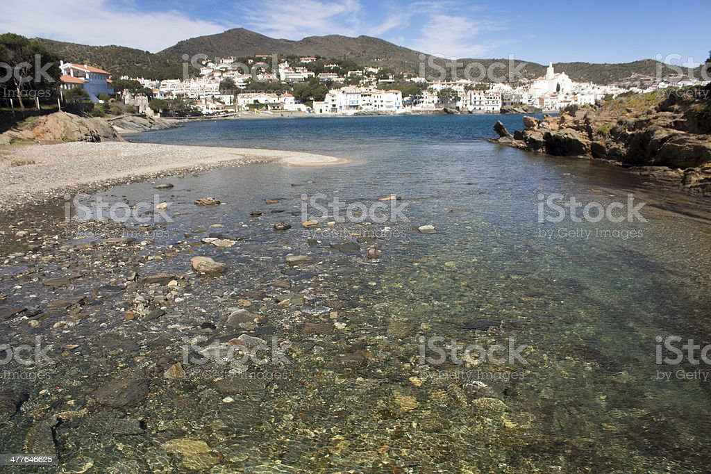 View of the port. Spain. royalty-free stock photo