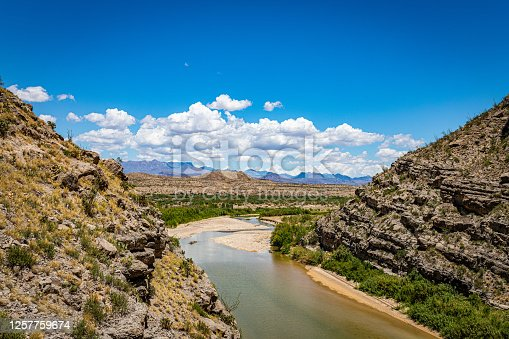 istock A view of the Rio Grande and Big Bend National Park in Texas from the United States side of Santa Elena Canyon. 1257759674
