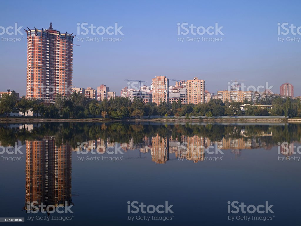 View of the river Donetsk Kalmius stock photo