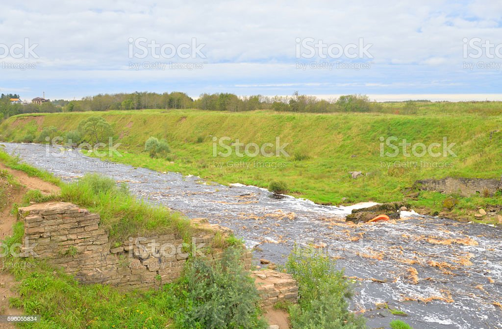 View of the river Tosna. royalty-free stock photo