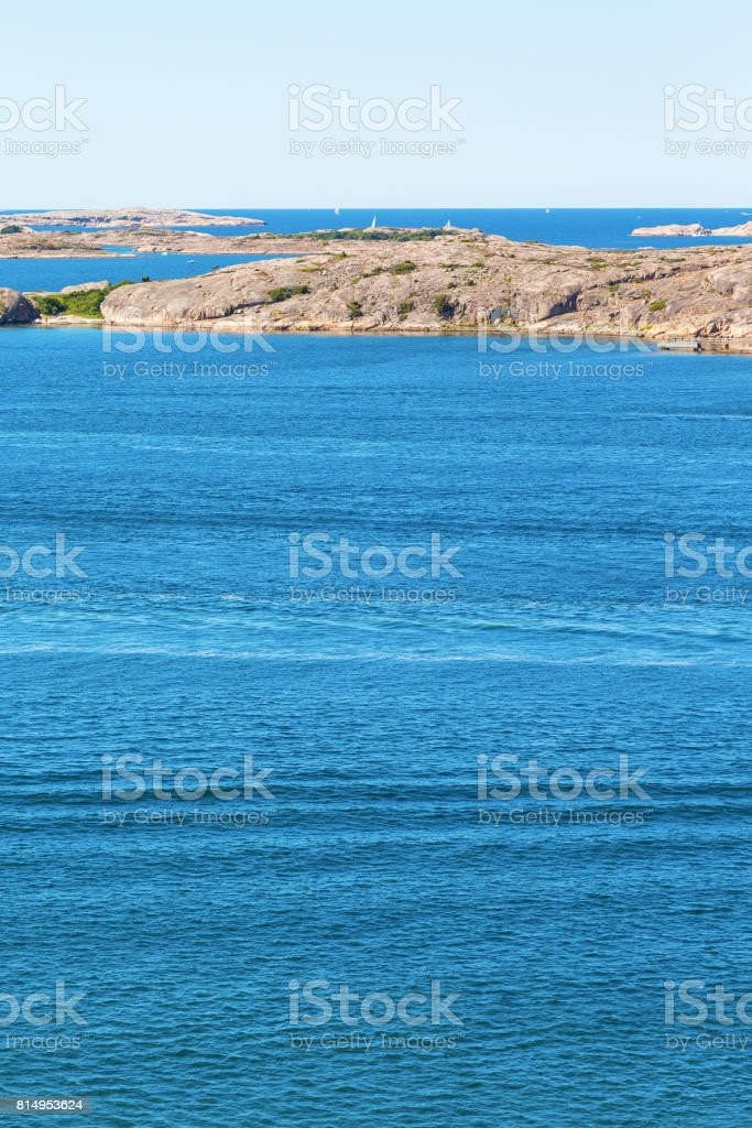 View of the rocky coast stock photo