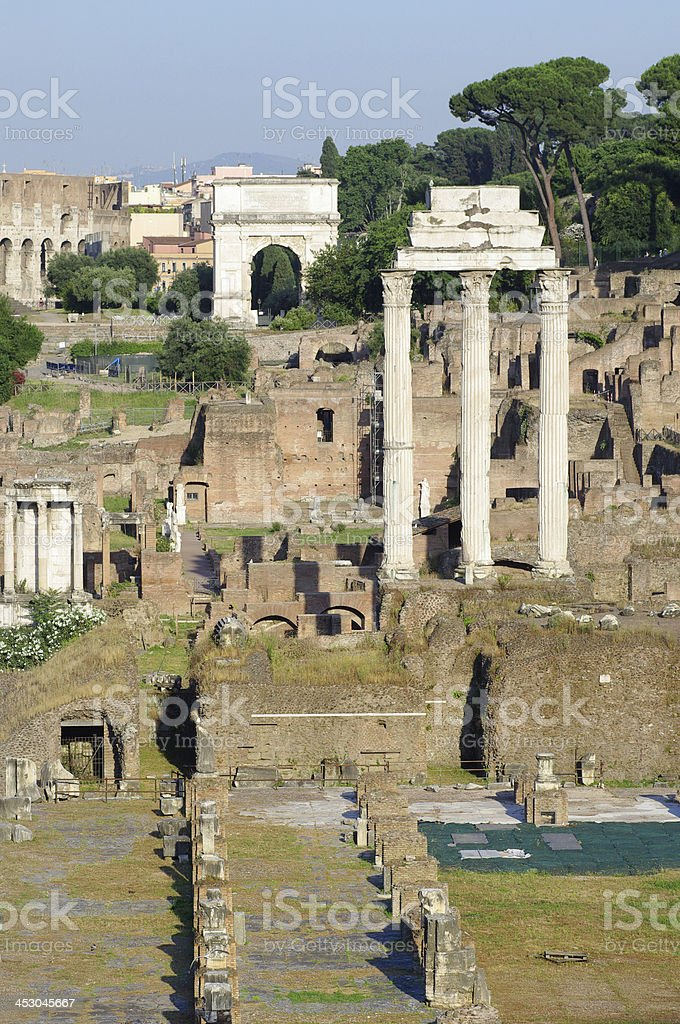 View of the Roman Forum in Rome, Italy royalty-free stock photo