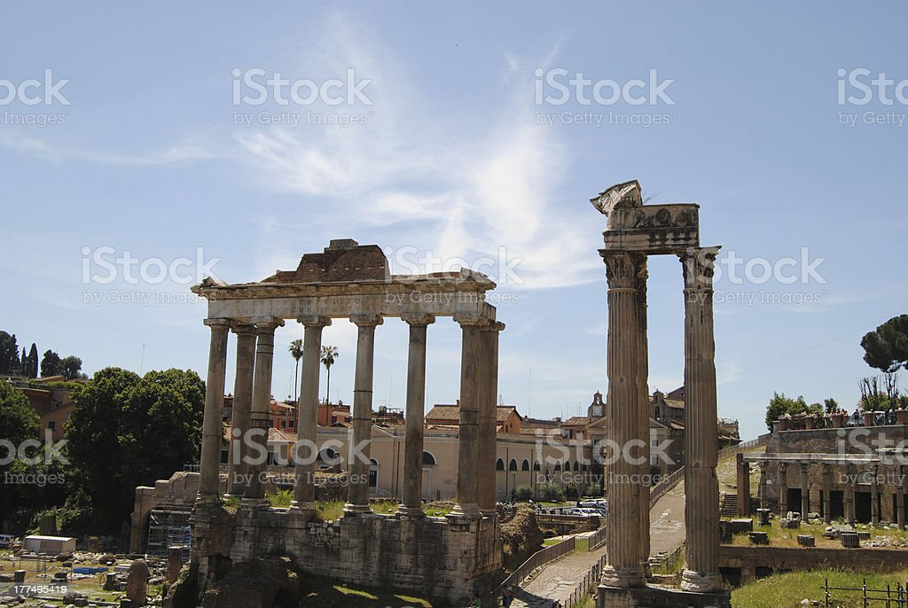 View of the Roman Forum. royalty-free stock photo